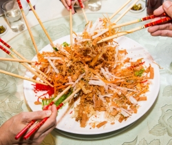 Halal Chinese New Year restaurant halal yusheng